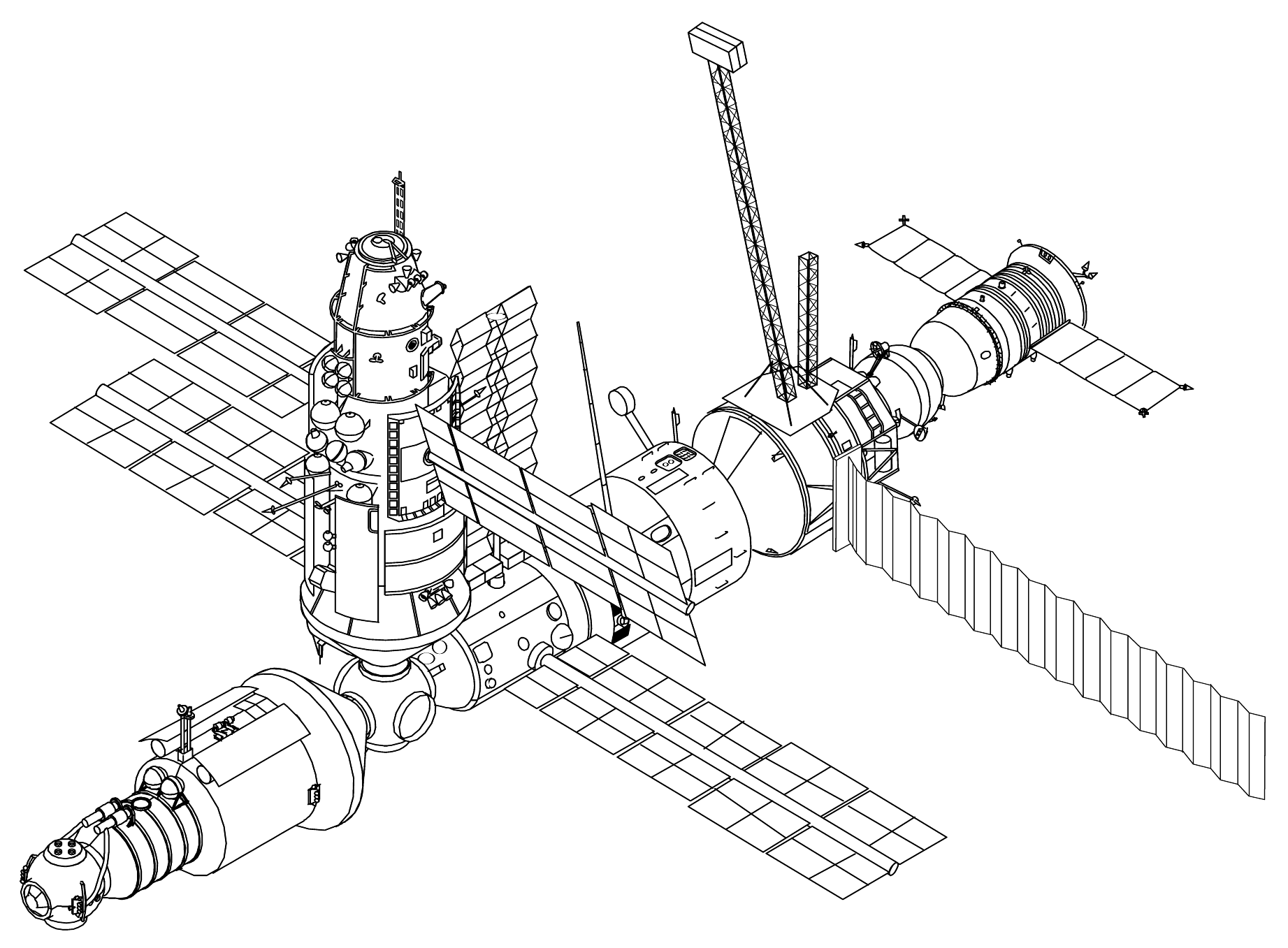 Space Station Dimension Drawing (page 2) - Pics about space