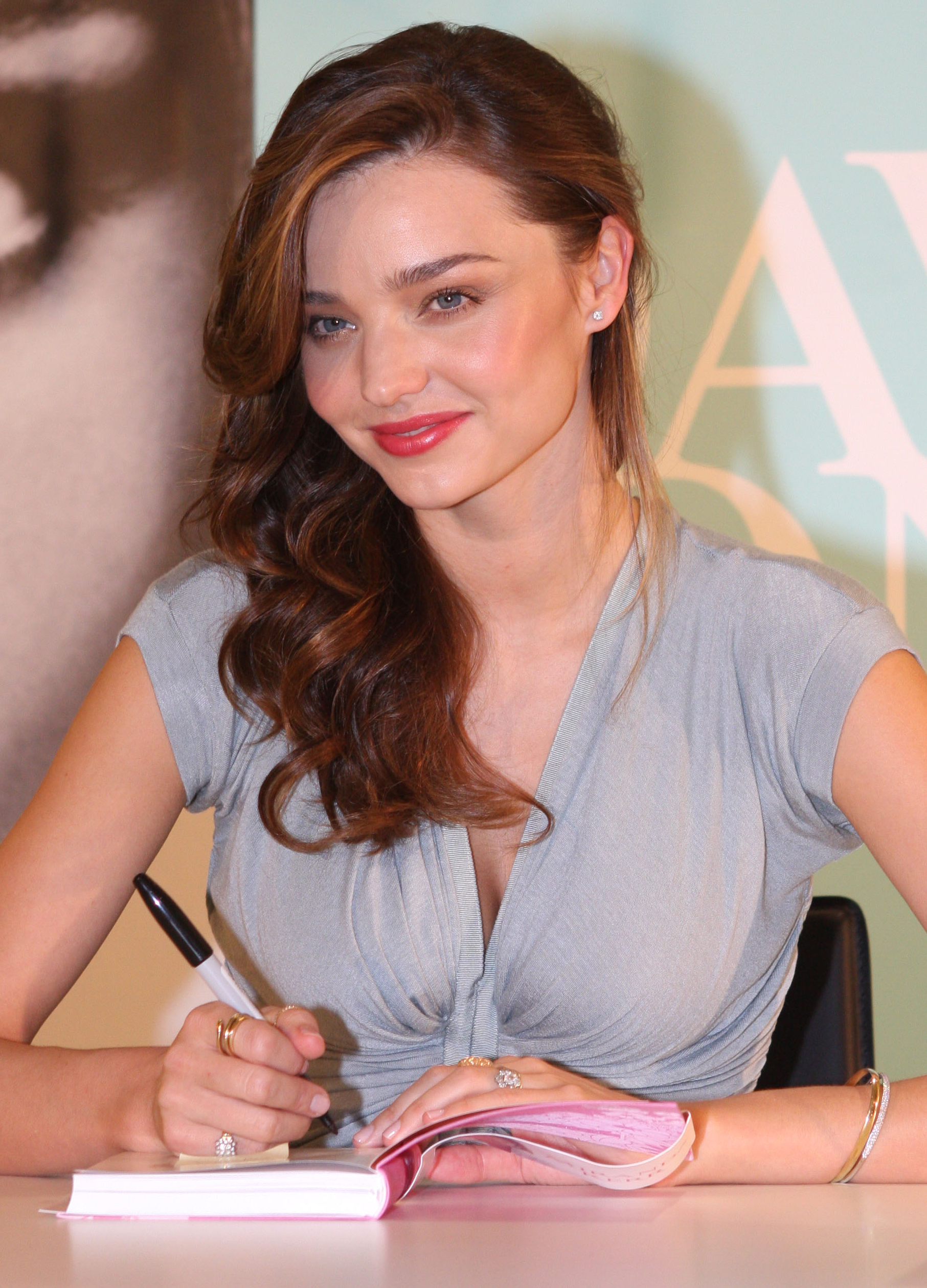 Miranda Kerr at a book signing.