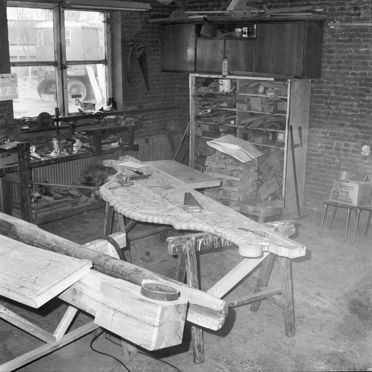 File:Molen Overwaard nr. 2, interieur, in de molenmakerswerkplaats ...