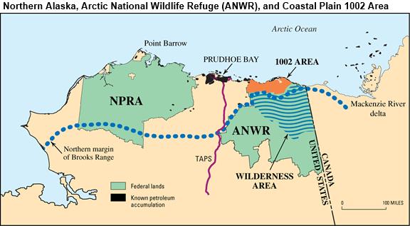 arctic national wildlife refuge map Arctic Refuge Drilling Controversy Wikipedia arctic national wildlife refuge map
