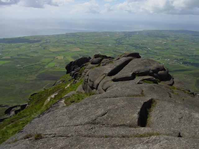 On the rocky summit of Slieve Binnian - geograph.org.uk - 103277