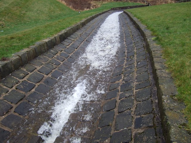 File:Overflow water channel from Drumain reservoir - geograph.org ...