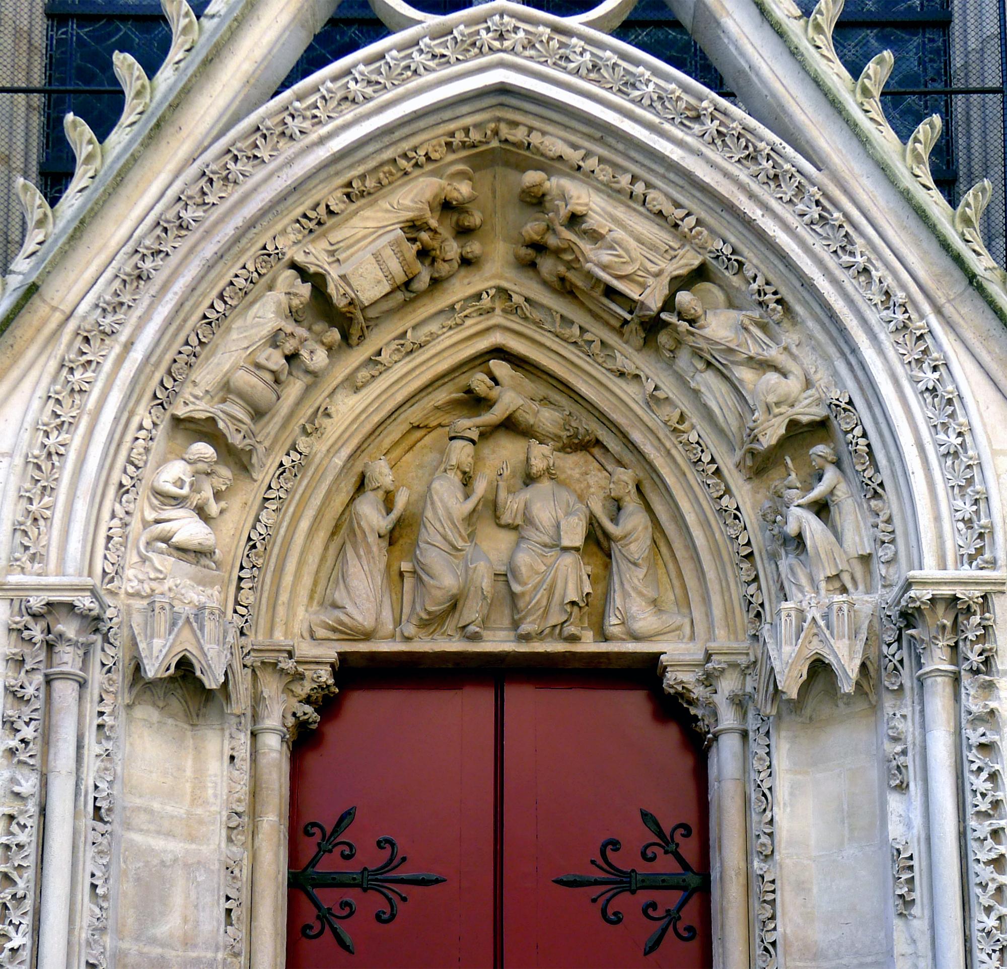 Filep1240887 Paris Iv Notre Dame Porte Rouge Tympan Rwkjpg
