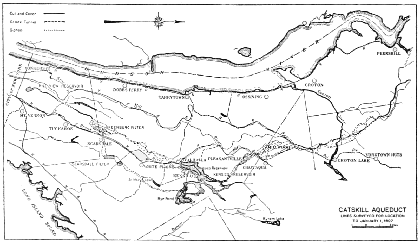 PSM V79 D104 Map of the southern aquaduct of the catskill water supply.png