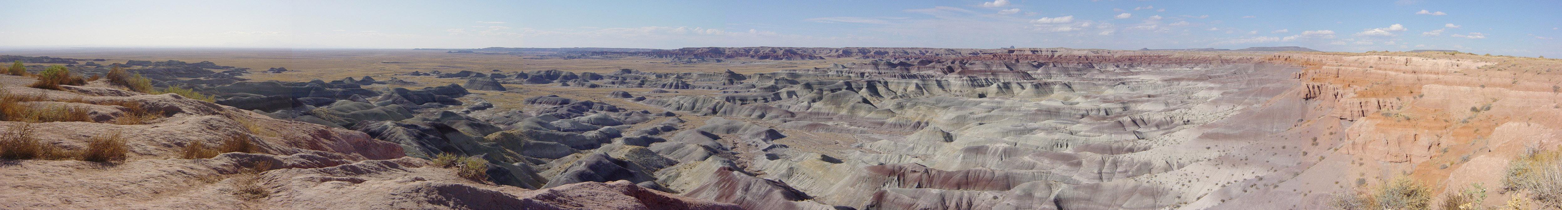 panorama peinted desert