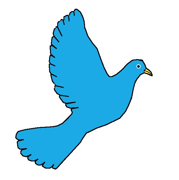 Peace dove-blue