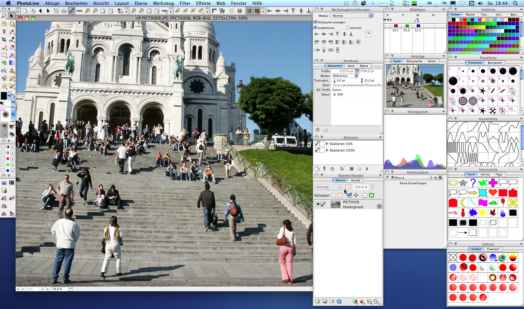 PhotoLine for Mac full screenshot