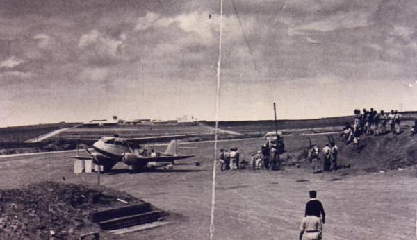 שדה התעופה של הדרום בניר-עם 1948