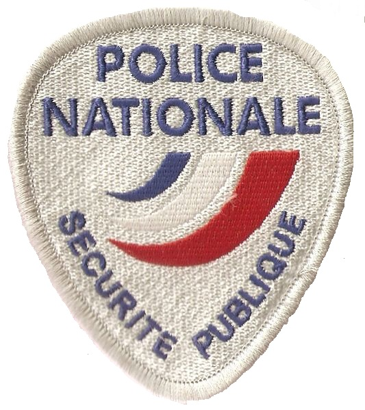 Police nationale France police patch blanc