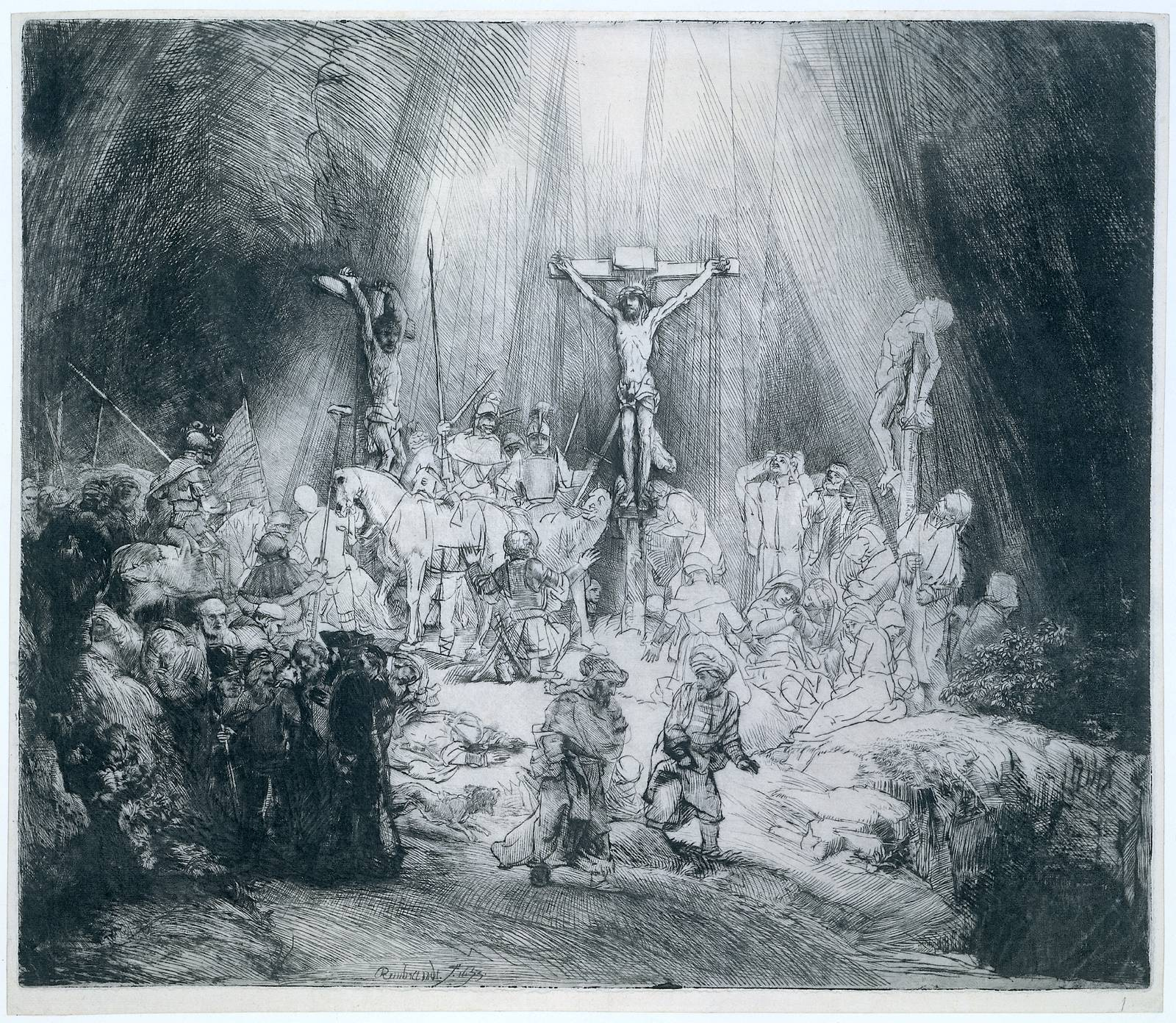 Rembrandt The Three Crosses 1653