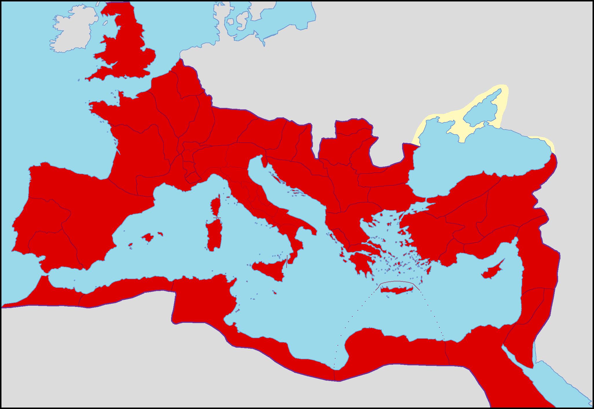 Description roman empire in 150 ad