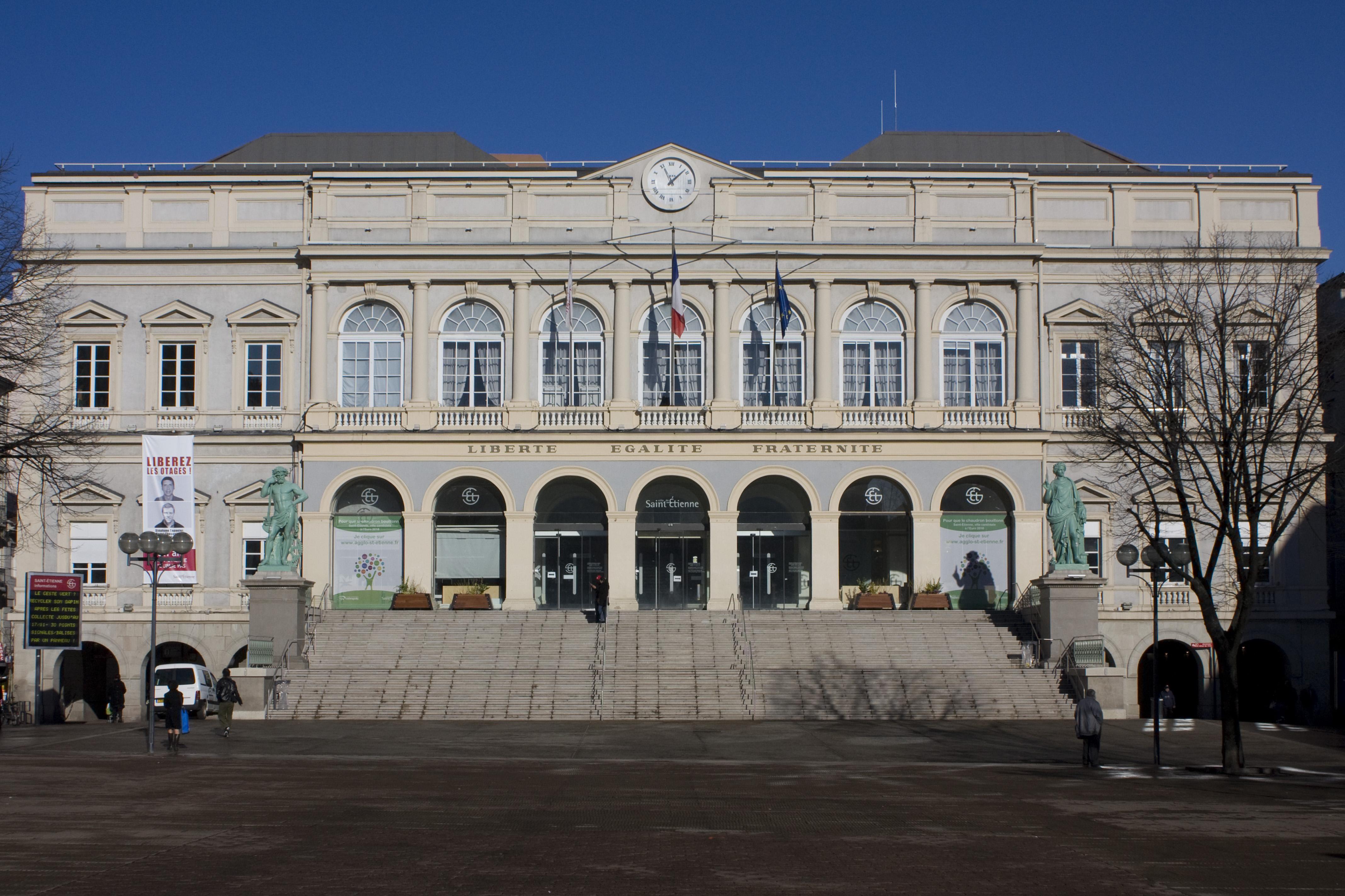 File saint tienne h tel de ville wikimedia - Piscine villeboeuf saint etienne ...