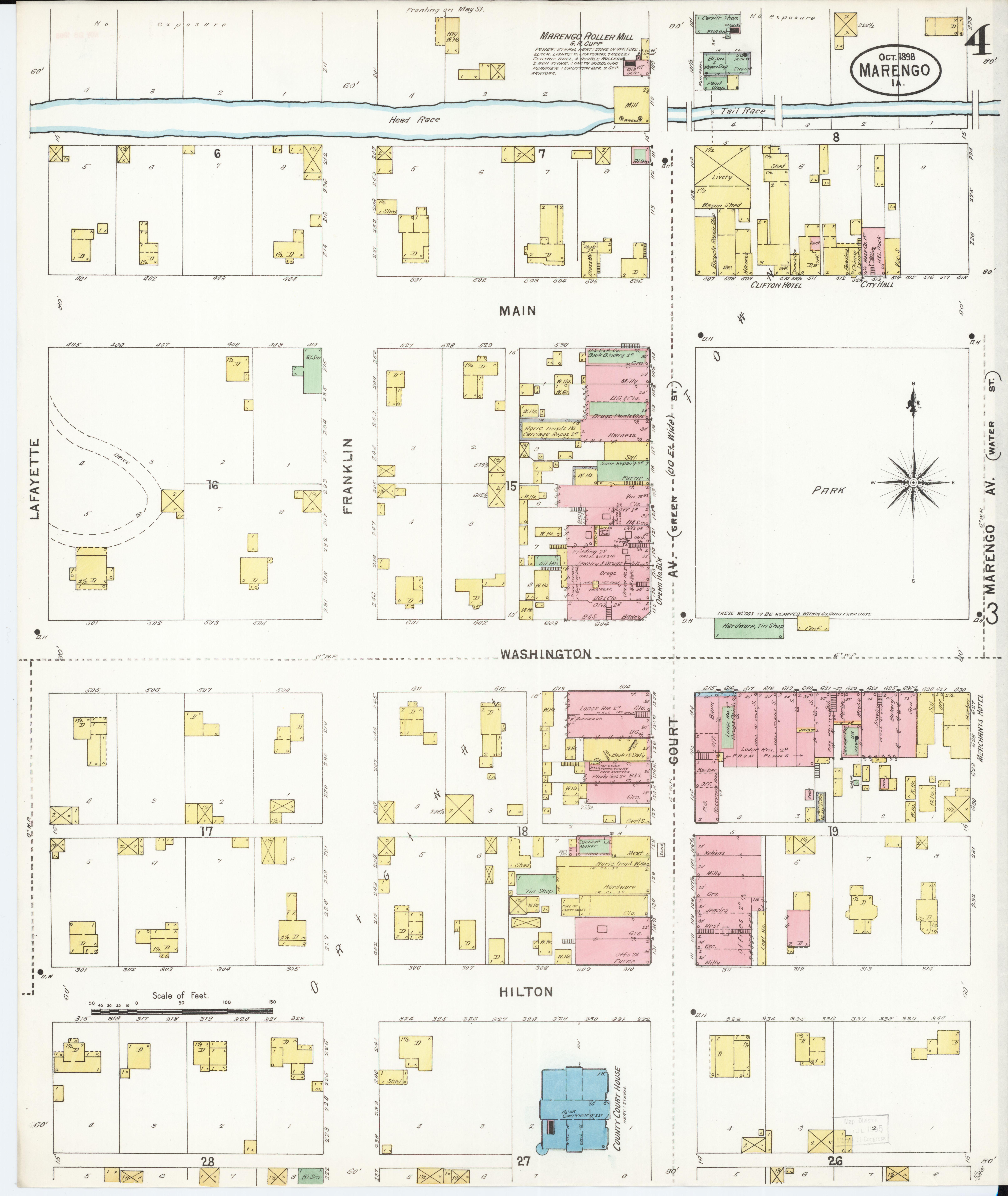 Iowa County Iowa Map.File Sanborn Fire Insurance Map From Marengo Iowa County Iowa Loc