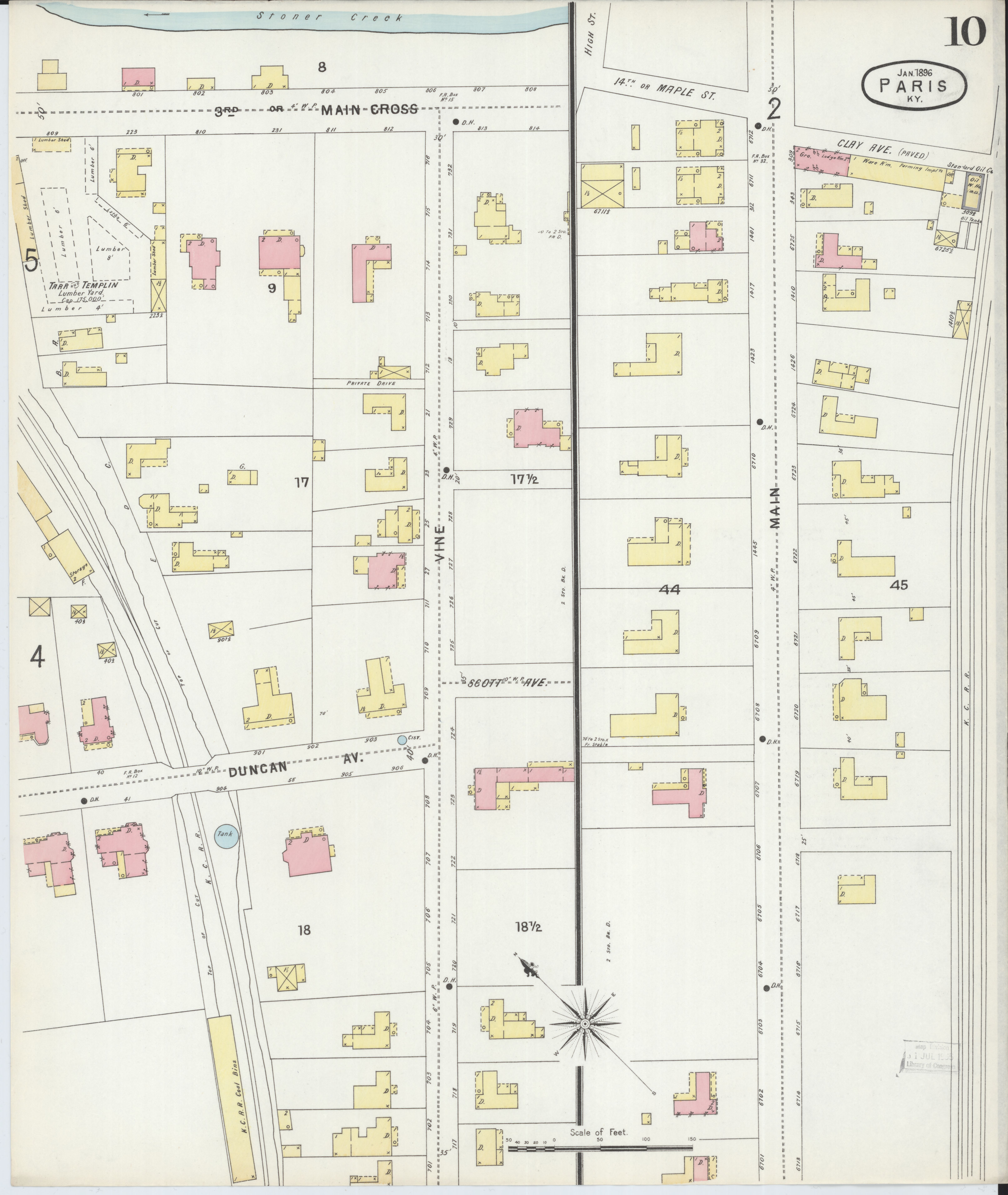 Picture of: File Sanborn Fire Insurance Map From Paris Bourbon County Kentucky Loc Sanborn03227 003 10 Jpg Wikimedia Commons
