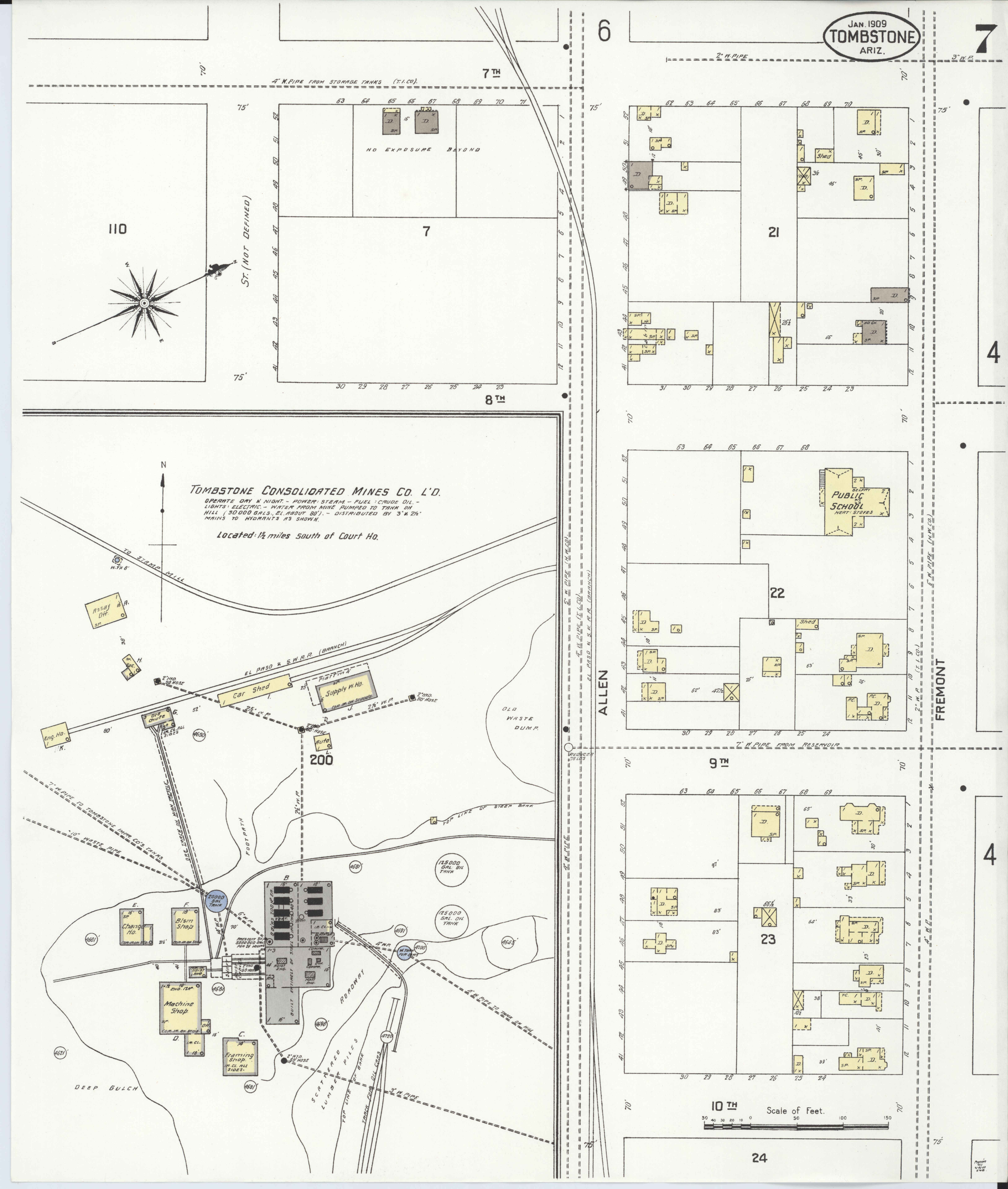 File:Sanborn Fire Insurance Map from Tombstone, Cochise