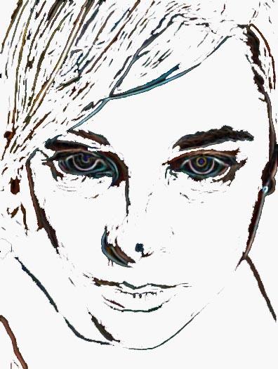 self portrait of sadness