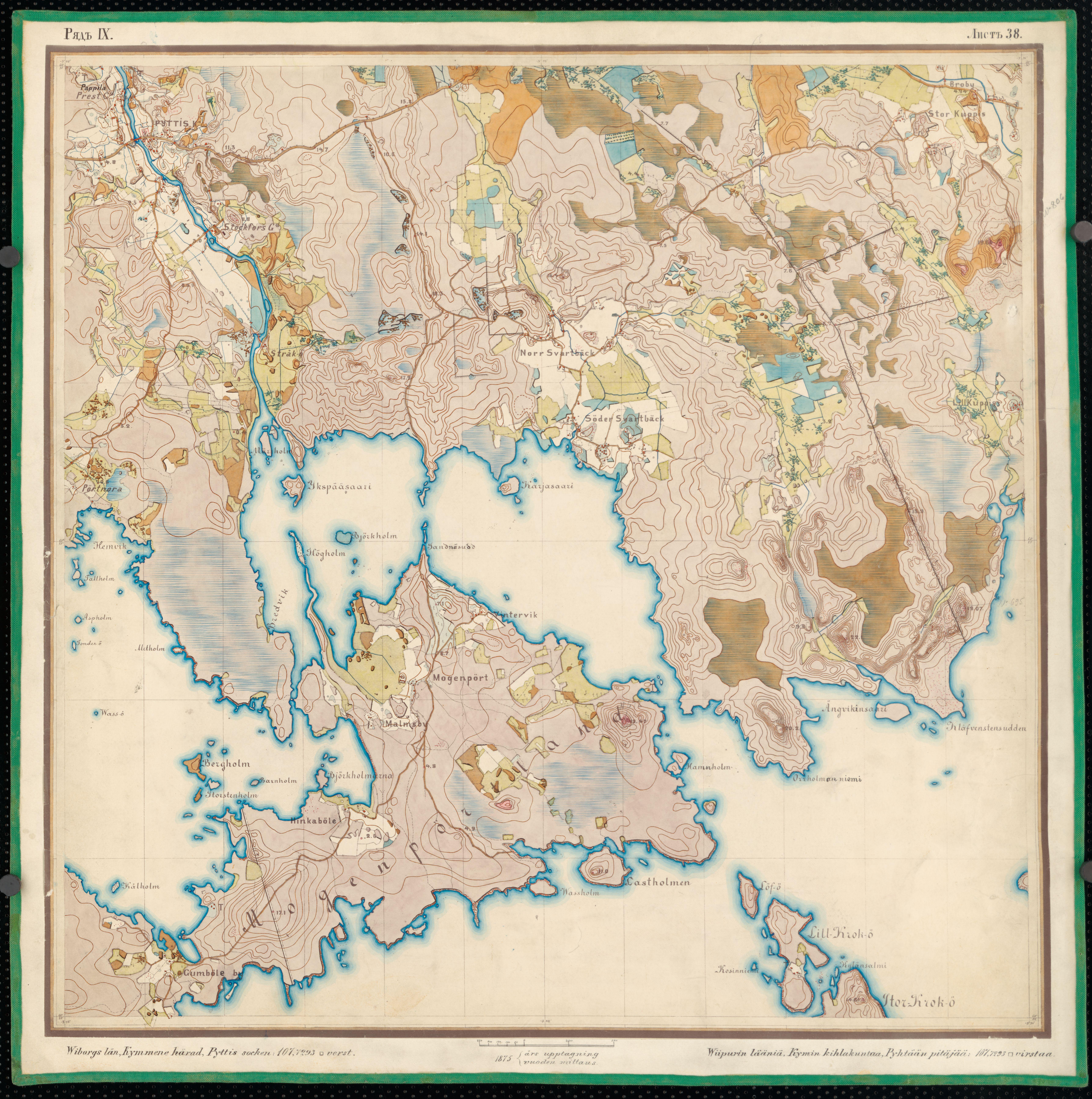 File Senate Atlas 1870 1907 Sheet Ix 38 Pyhtaa Jpg Wikimedia