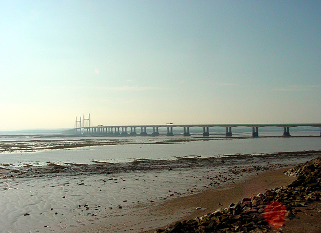 File:Severn Beach and the Second Severn Crossing - geograph.org.uk - 187948.jpg