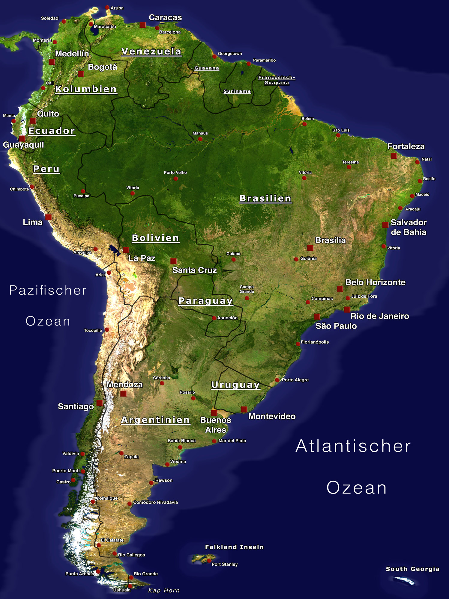 File:South America - Satellite Orthographic Political Map.jpg ...