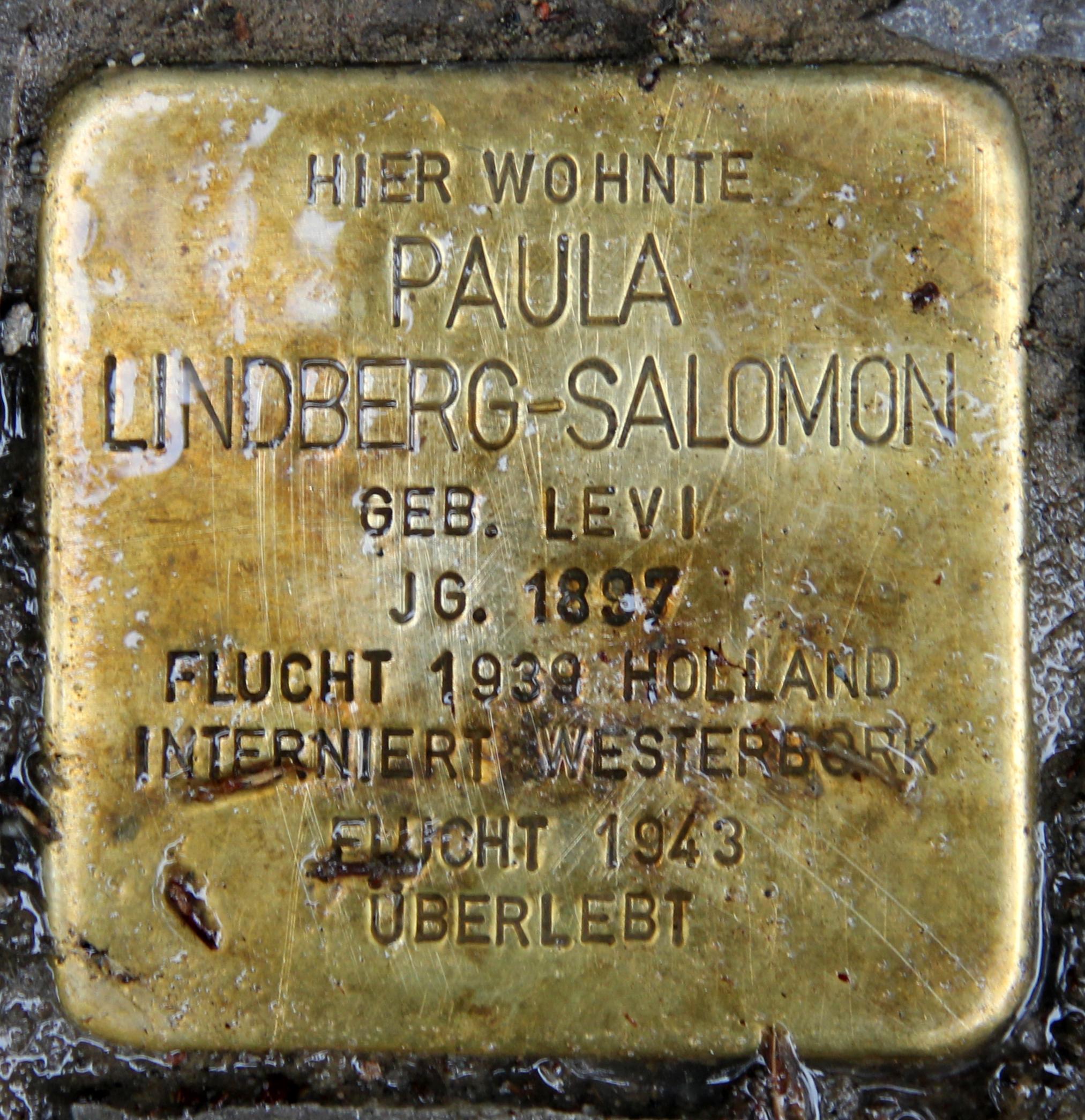 Paula Salomon Lindberg – Wikipedia