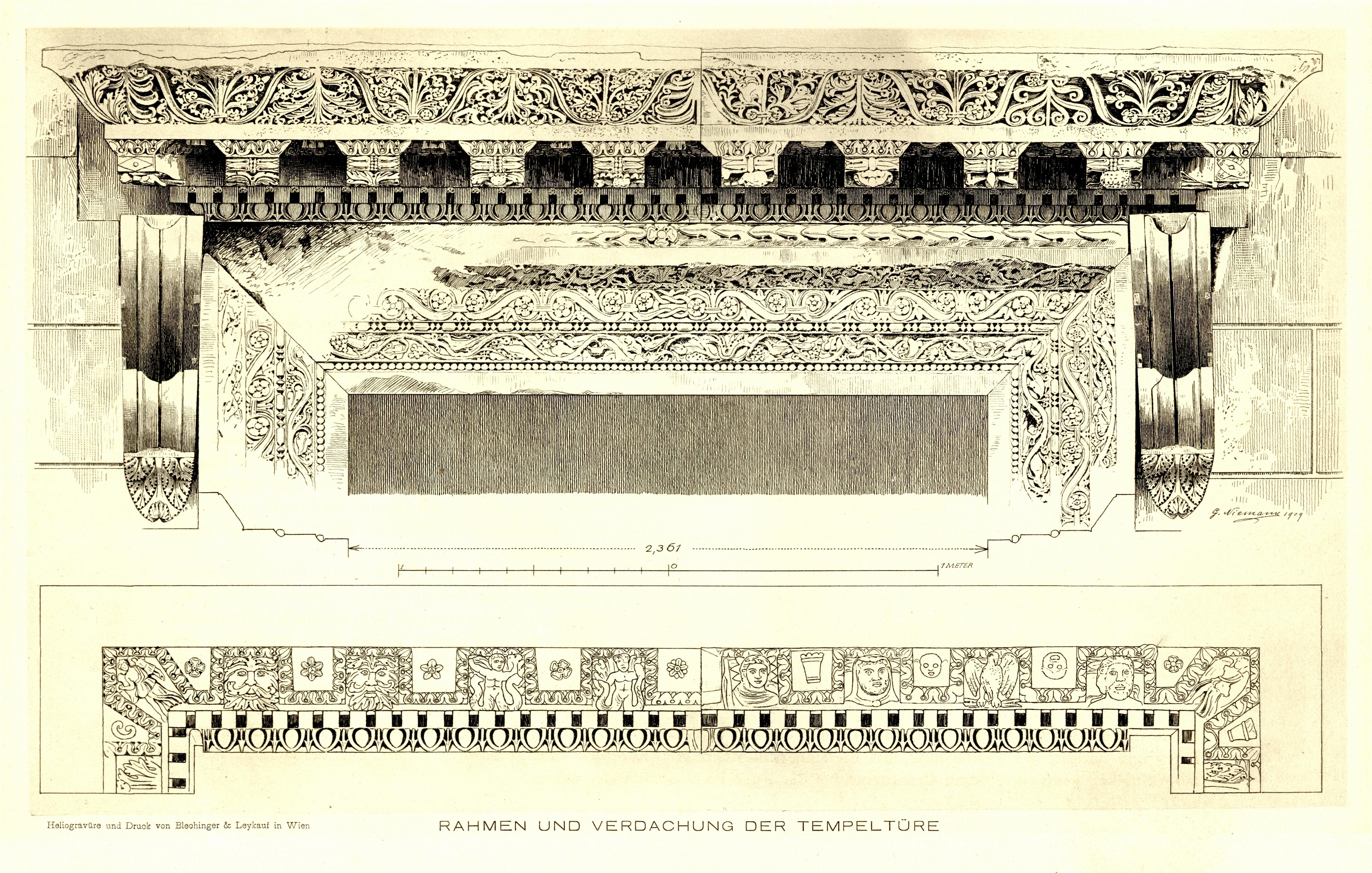 File:Tafel 17 Rahmen und Verdachung der Tempeltüre.jpg - Wikimedia ...