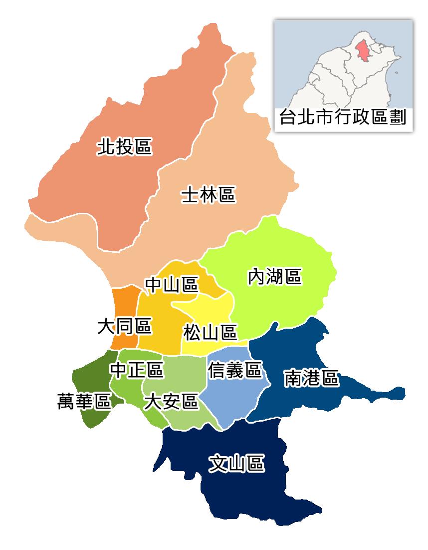 台北區域分布圖表