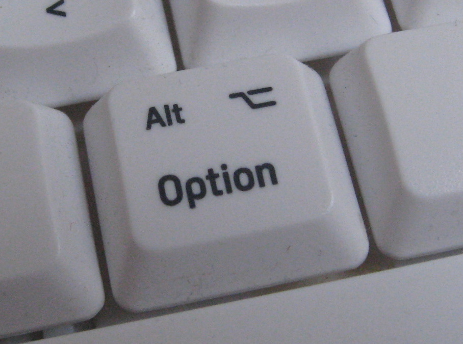 Option key on a third-party keyboard (Logitech...