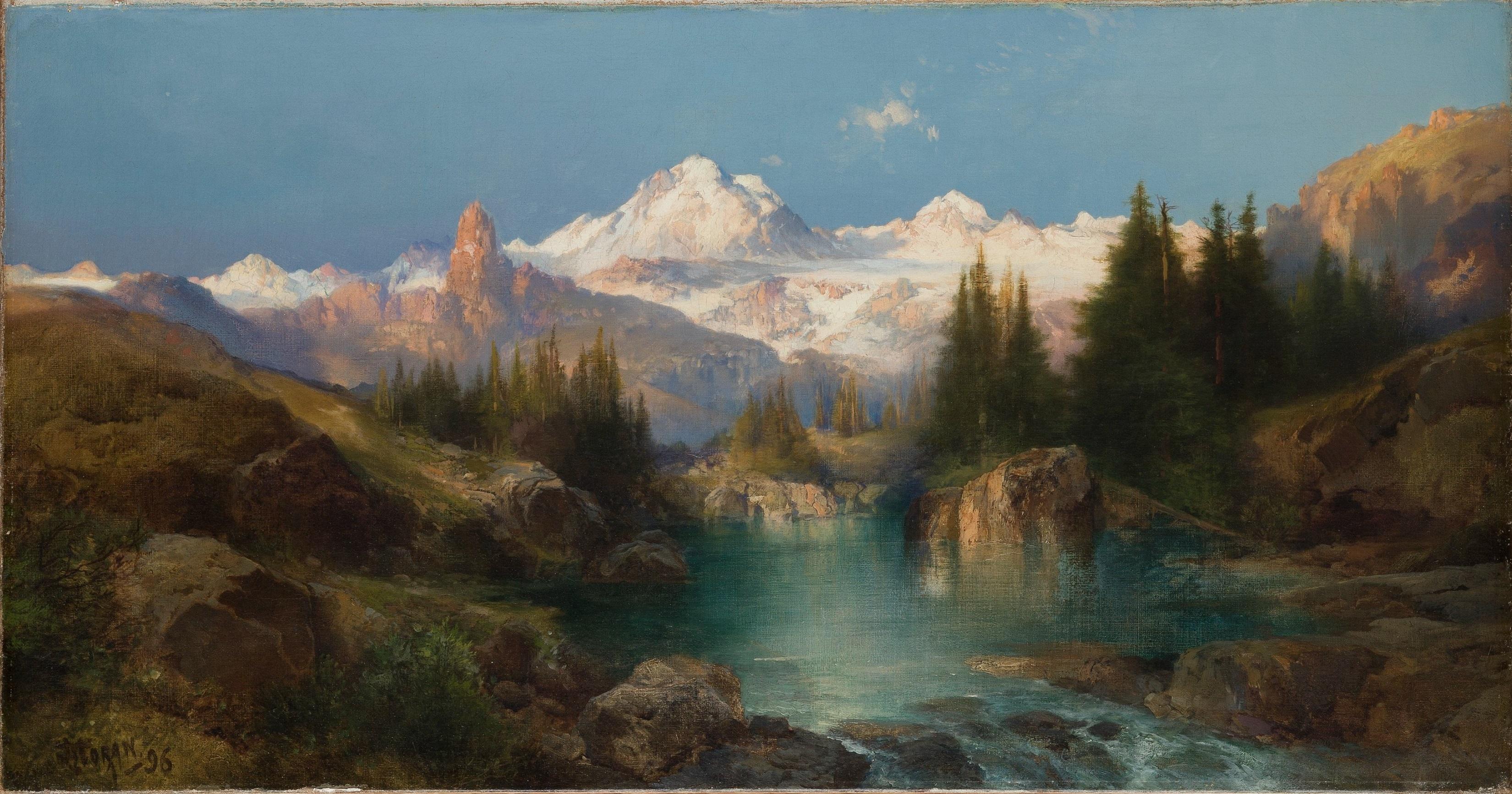 File Thomas Moran Snowy Range 1896 Denver Art Museum