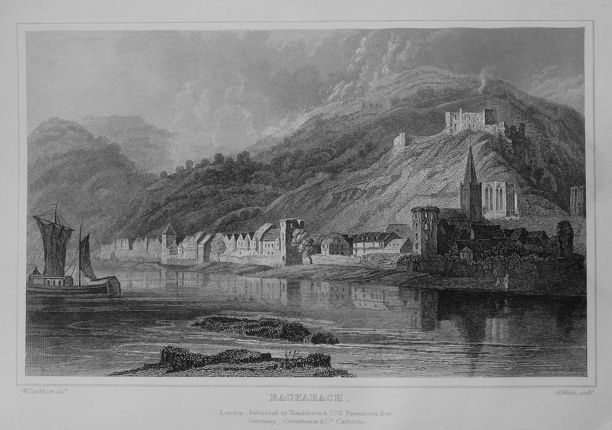 Ansicht von Bacharach 1832