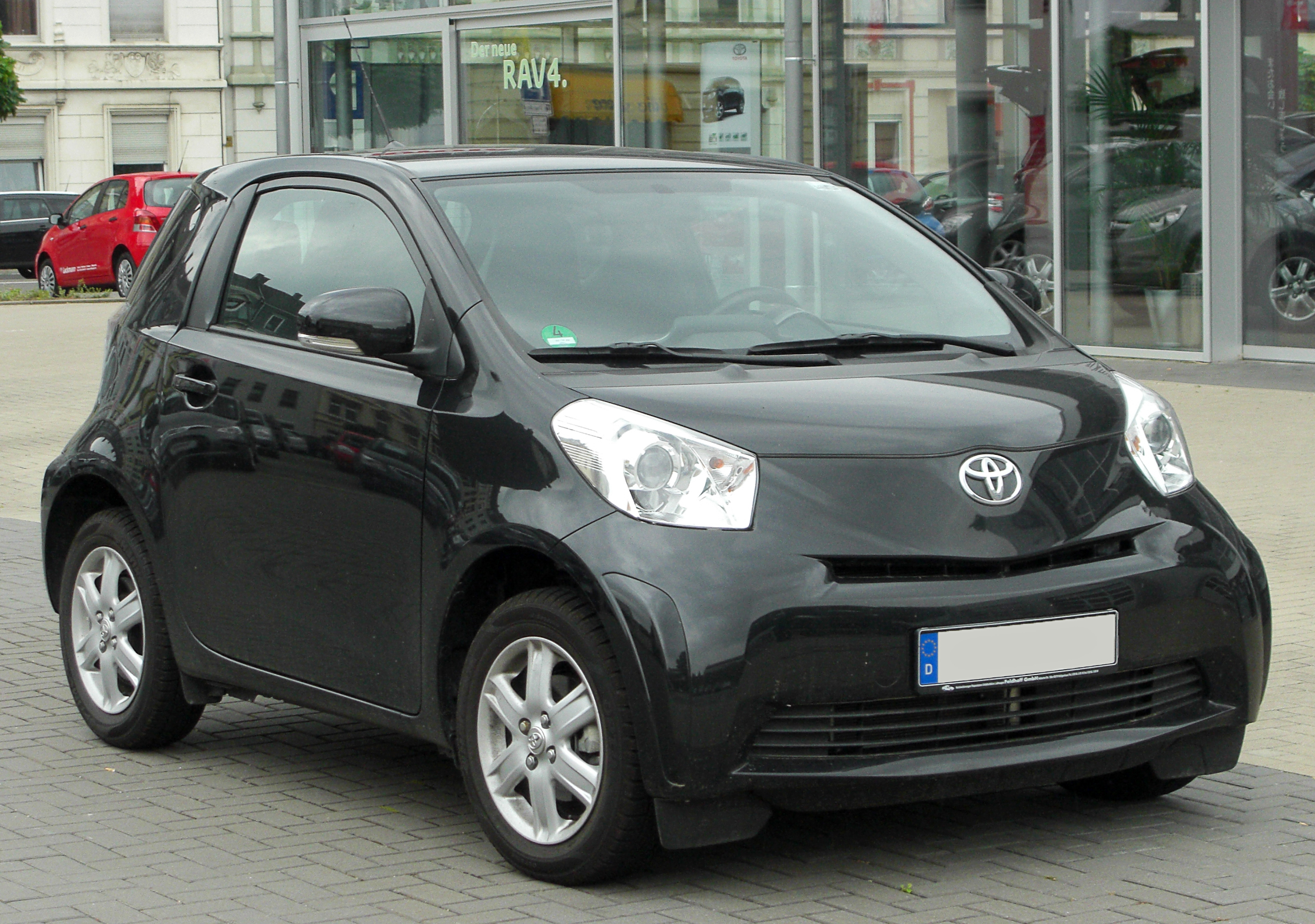 file toyota iq front wikimedia commons. Black Bedroom Furniture Sets. Home Design Ideas
