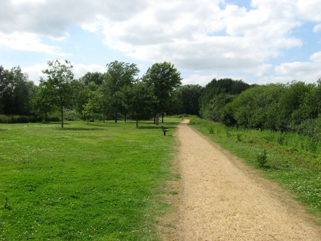 Track in Milton Country Park - geograph.org.uk - 863627