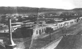 Stone Avenue in the year 1880 in Tucson, southern Arizona's largest city Tucson Stone Ave year 1880.jpg
