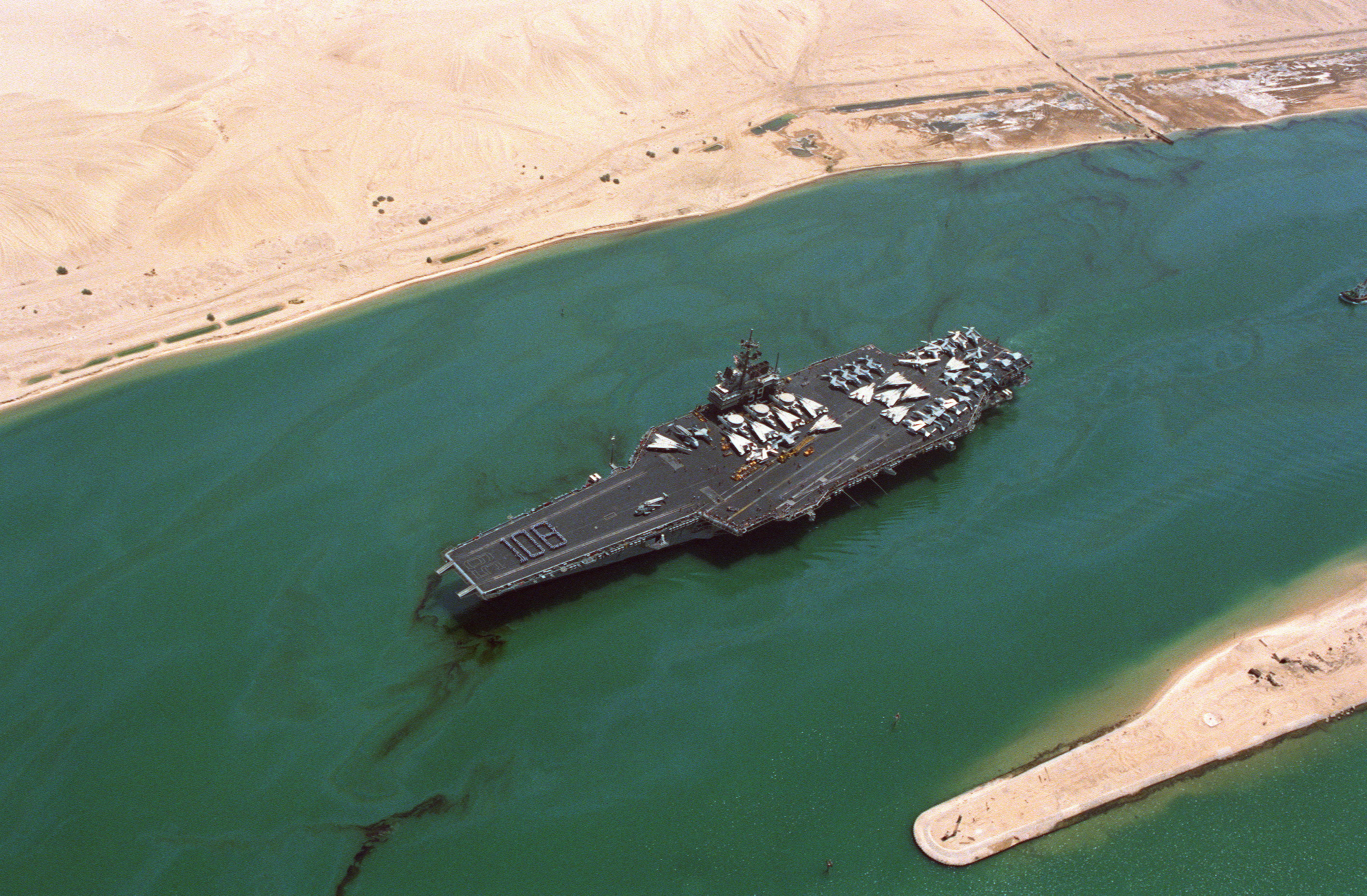 file uss forrestal  cv-59  suez canal 108 days at sea jpg