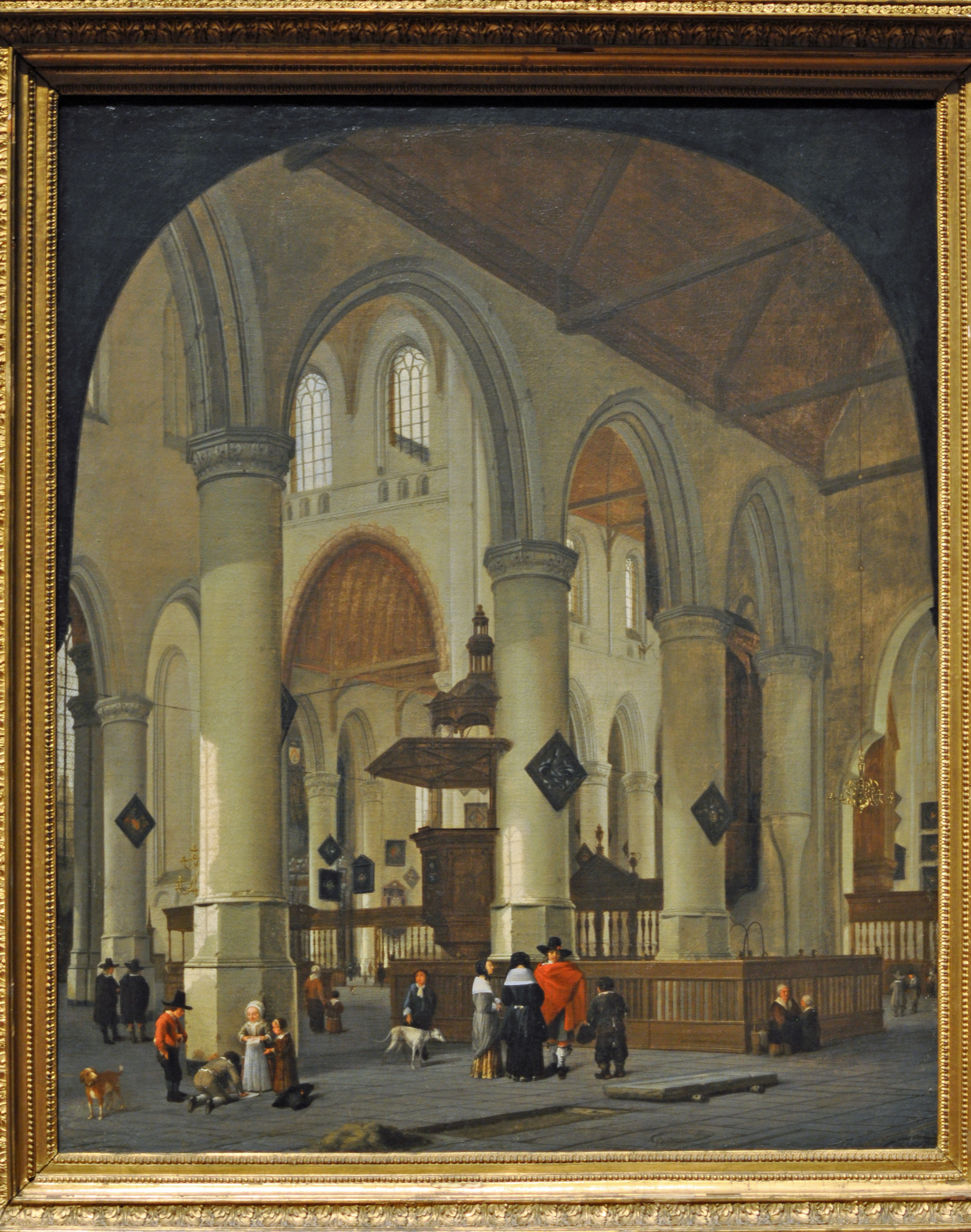 File Van Vliet Interior Of The Old Church At Delft Jpg
