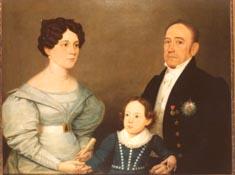 Visconde de meriti, esposa e filha
