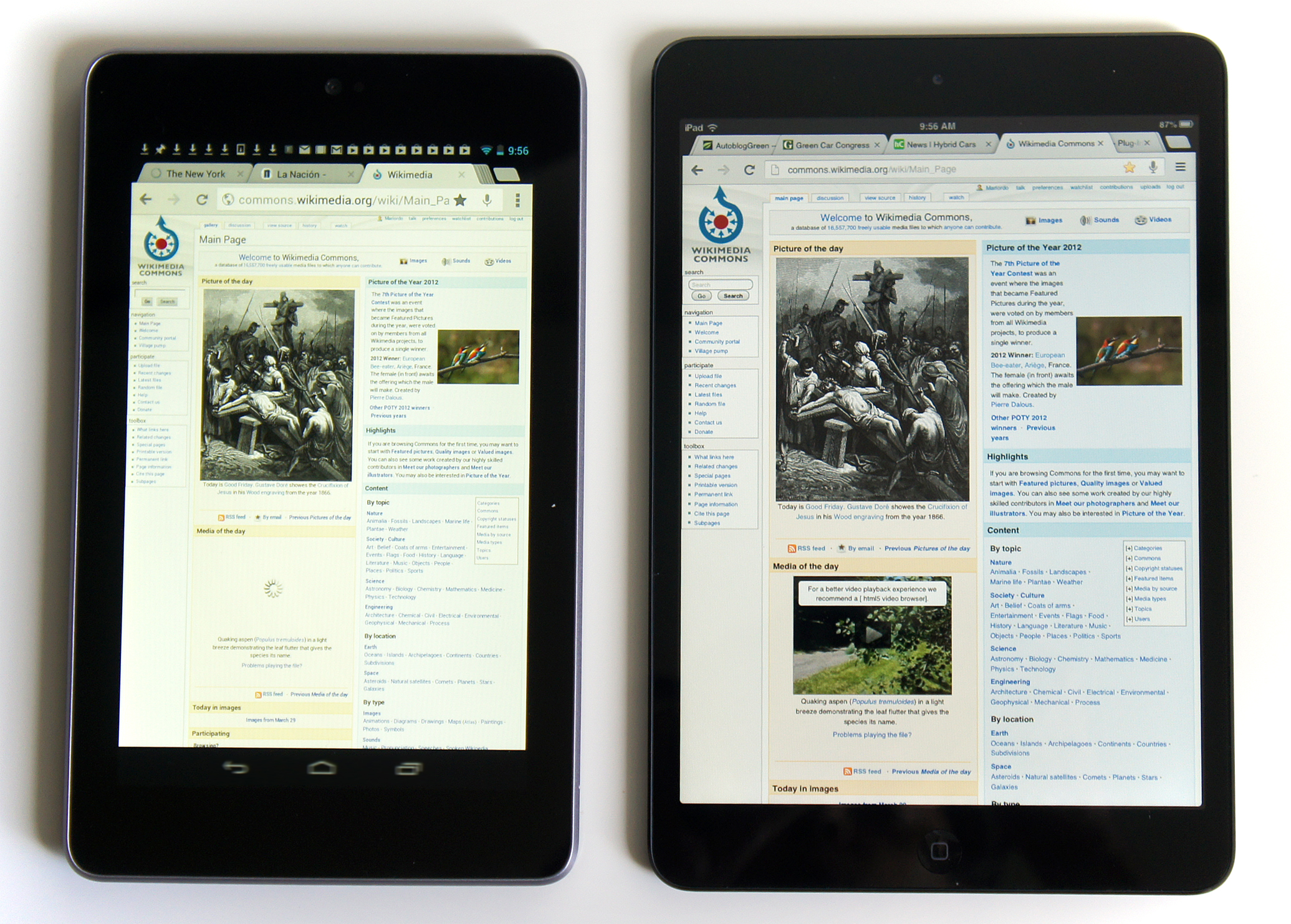 Ipad Comparison Chart: Wikimedia iPad Mini 6 Google Nexus 7 tablets 03 2013 6234.jpg ,Chart