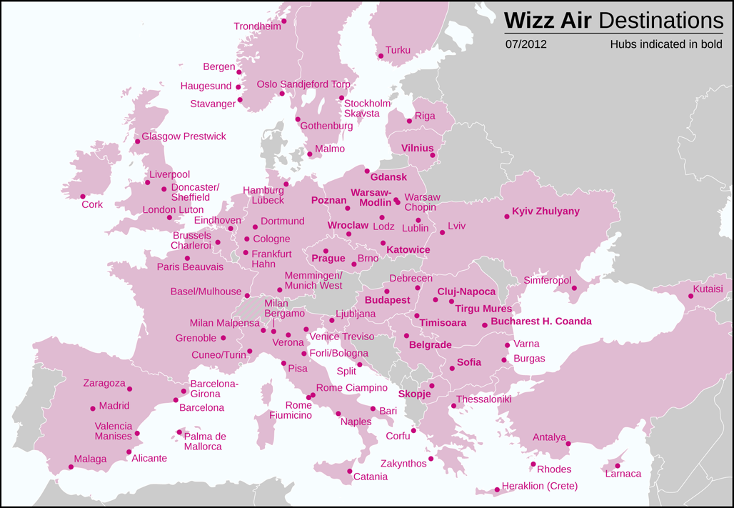 File Wizz Air Destinations 2012 Png Wikimedia Commons