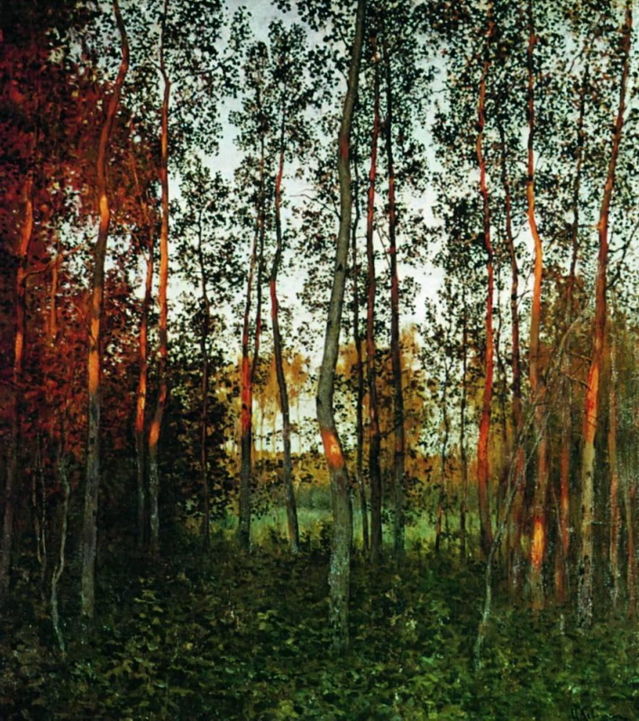 Famous Birch Forest Painting