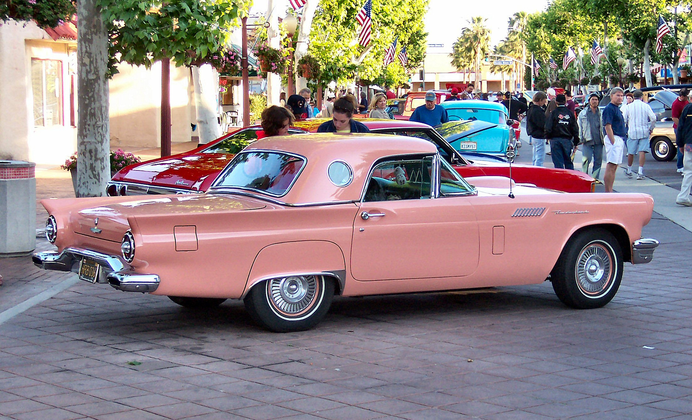 File 1957 ford thunderbird pink rear jpg
