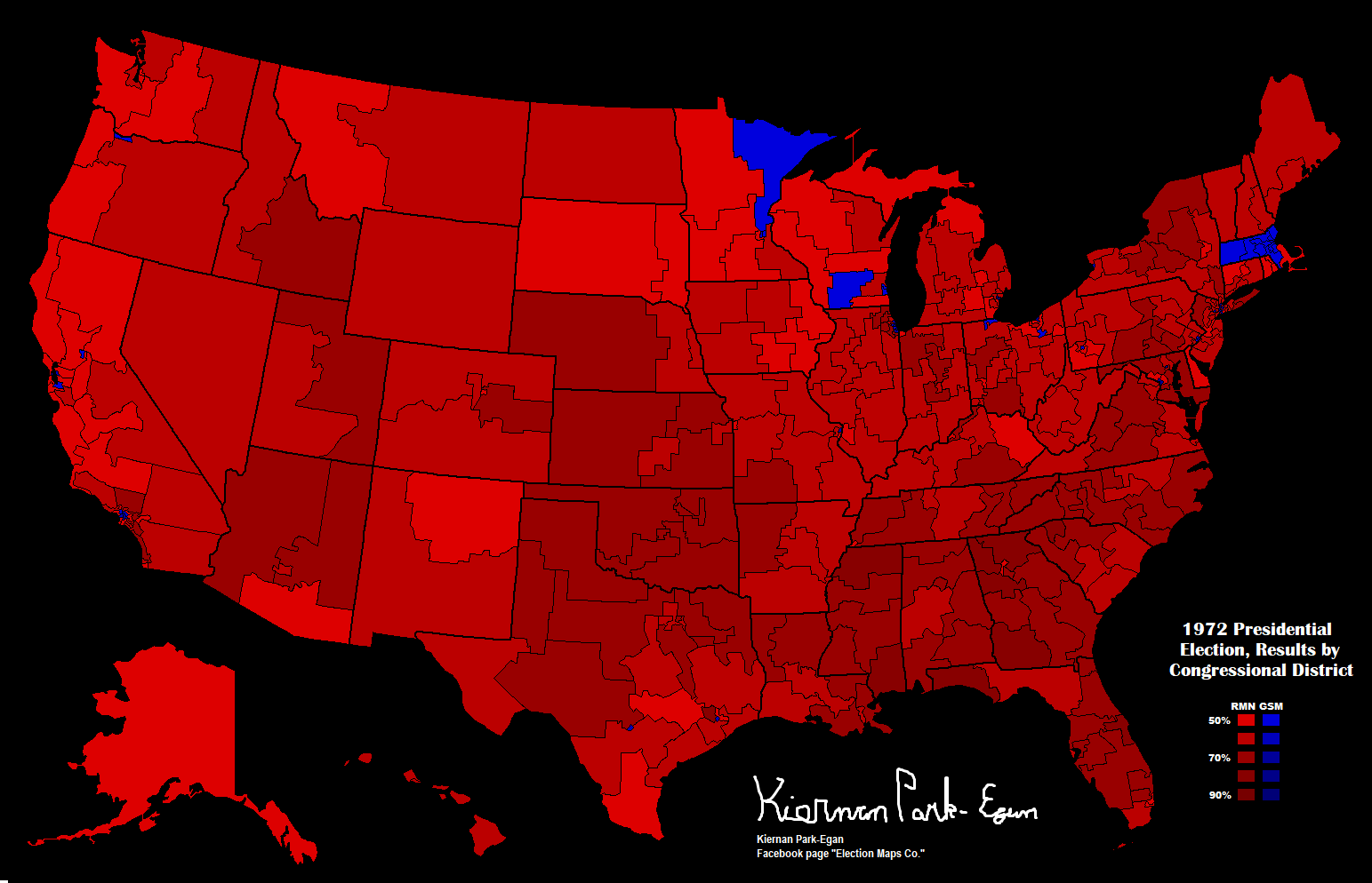 File:1972 Presidential Election, Results by Congressional ...