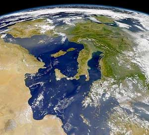 Italy viewed from space.