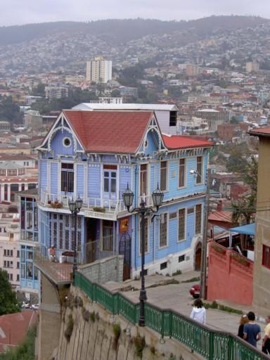 View of the restaurant Las Brujas in Valparaíso