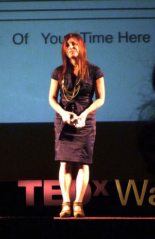 Rosenthal speaking at the TEDx Waterloo conference, February 25, 2010