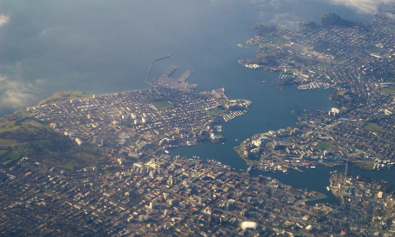 Victoria (BC) Canada  city photos : Aerial photo of Victoria, BC, on Vancouver Island, Canada