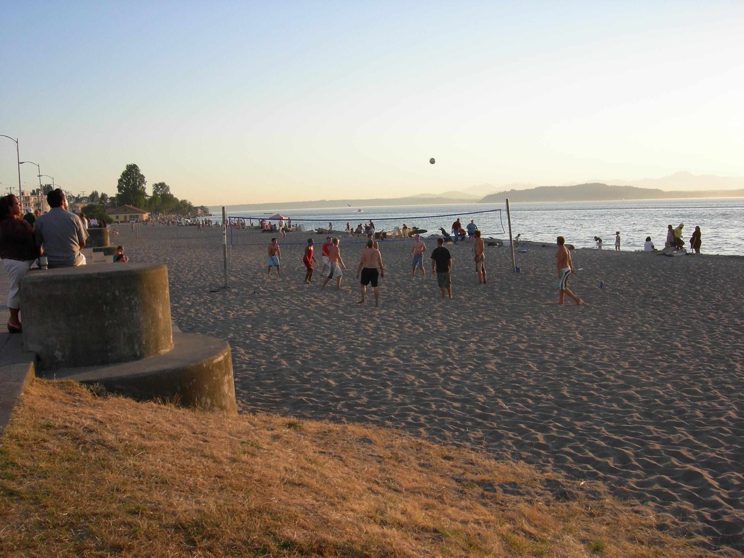 Urban Landscape, Native Landscape: Alki Beach at Sunset