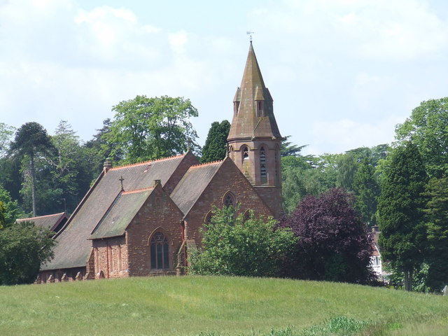 All Saints parish church, Wribbenhall, Worcestershire, seen from the east