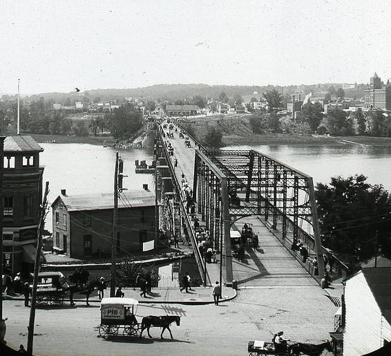 Aqueduct Bridge - c 1900 from Georgetown - Washington DC.jpg