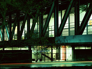 Photo of ArtCenter's Hillside Campus at night