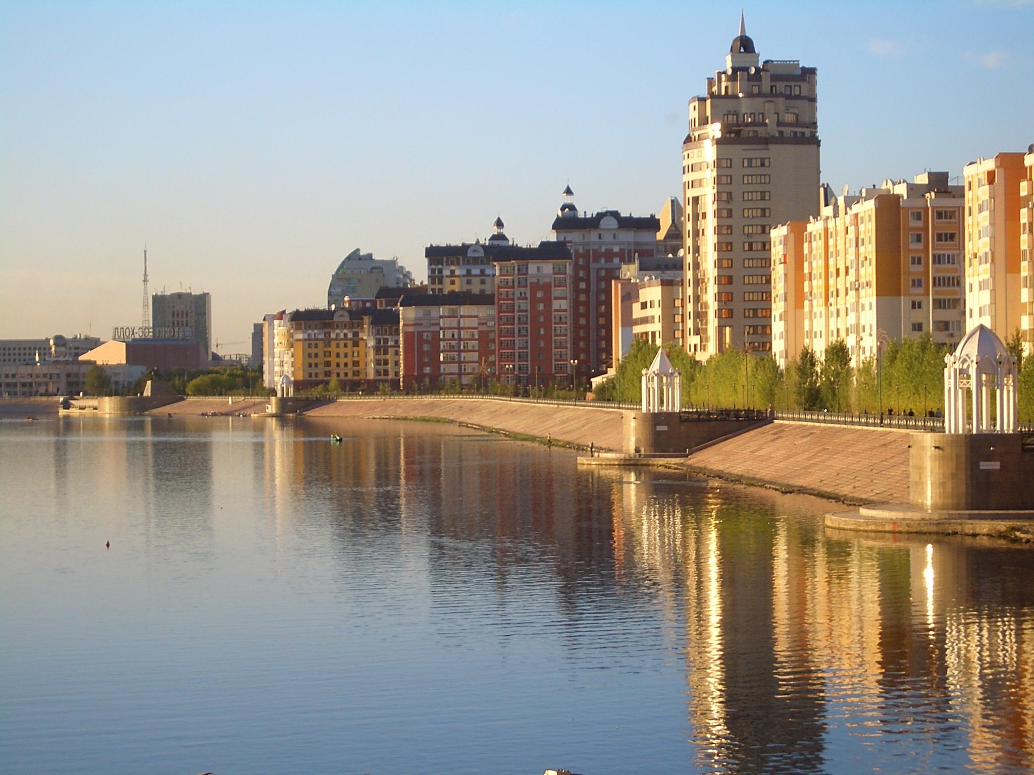 说明 astana ishim river embankment 7797