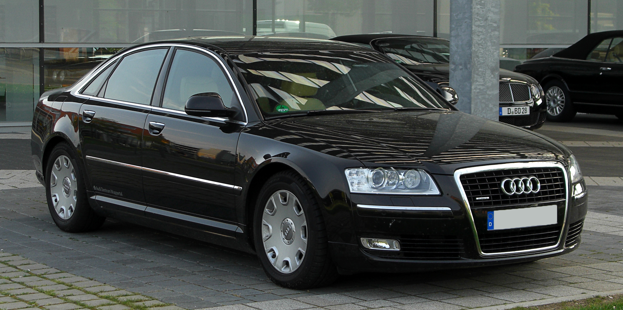 file audi a8 quattro d3 2 facelift frontansicht 30 april 2011 d. Black Bedroom Furniture Sets. Home Design Ideas